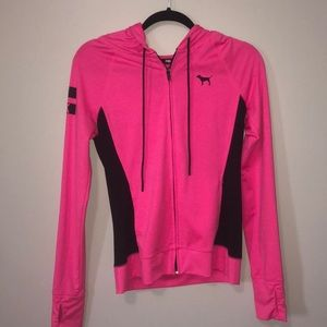 Pink Zip Up Dri Fit